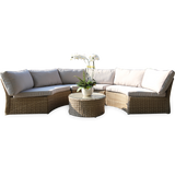 Malvern 6 Seater Outdoor Wicker Circular Lounge Set - DECOR STAR
