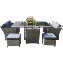 ELWOOD - Outdoor Wicker Large Rectangle Dining Table