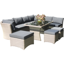 Brighton 9 Seater Outdoor Wicker Lounge Set