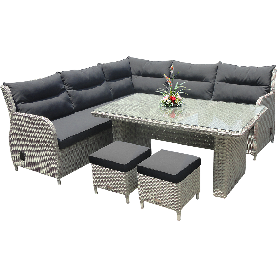 ARMADALE - Recliner Corner Lounge with Footstools - Furniture Star Direct