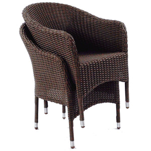 Clifton Hill Outdoor Wicker Stackable Chairs