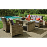 Alphington 5 Seater Outdoor Wicker Lounge Dining Set - DECOR STAR