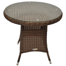 DONVALE - Balcony Patio Wicker Round Coffee Table - Furniture Star Direct