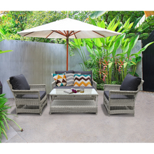 EAGLEMONT - Elegant 4 Seater Outdoor Rectangle Coffee Table Lounge Set