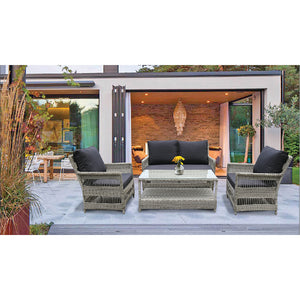 EAGLEMONT - Outdoor Wicker Single Seater Sofa - Furniture Star Direct