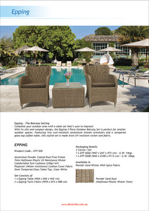 Epping 3 Piece Outdoor Wicker Coffee Lounge Set Flyer
