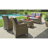 Essendon 4 Seater Outdoor Wicker Lounge Set - DECOR STAR