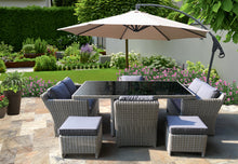 Elwood 8 Seater Outdoor Wicker Dining Lounge Set