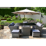 Elwood 8 Seater Outdoor Wicker Dining Set - DECOR STAR