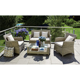 Glen Iris 4 Seater Outdoor Wicker Coffee Lounge Set - DECOR STAR