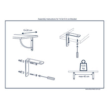 2X TWIN 150 - Shelf Wall Mounted Brackets - Furniture Star Direct