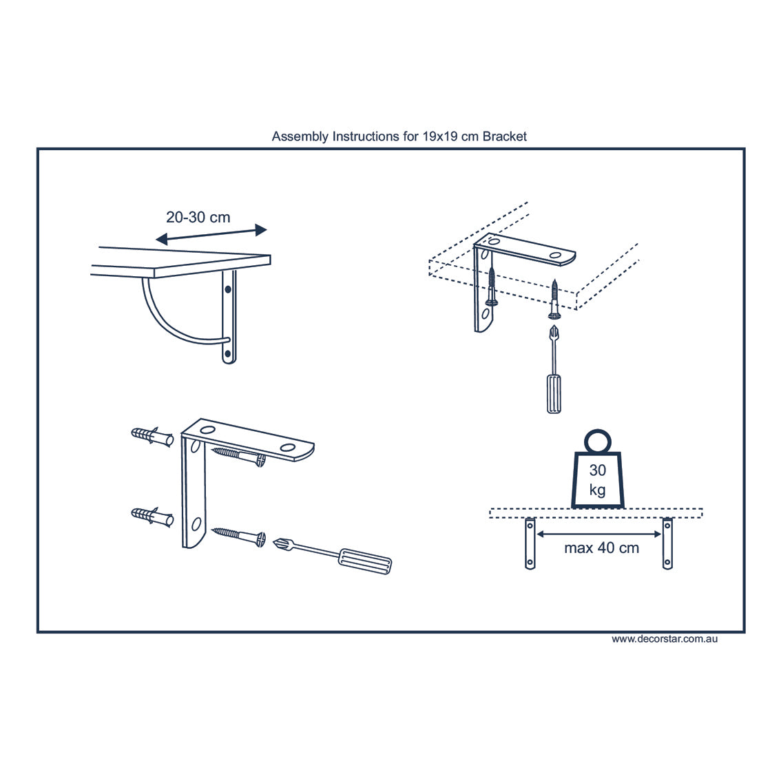 Curly 190 Shelf Wall Mounted Brackets