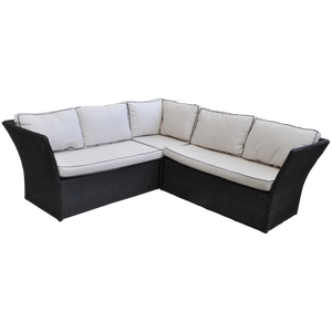 Hampton 5 Seater Outdoor Wicker Lounge