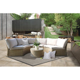 Malvern 6 Seater Outdoor Wicker Lounge Set - DECOR STAR