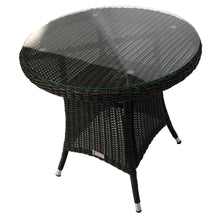 PRE-ORDER NIDDRIE - 5 Piece Outdoor Round Coffee Table and Stacking Armchair Set - Furniture Star Direct