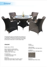 Ormond 5 Piece Outdoor Wicker Round Table Dining Set Flyer