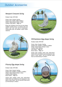 PRE-ORDER FITZROY - Egg Shape Hanging Chair Swing - Furniture Star Direct