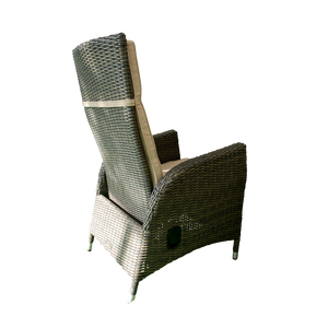 Outdoor Wicker Gas Spring Recliner Chair