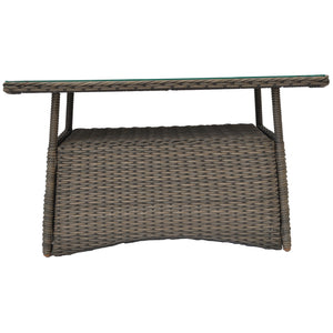 TOORAK - Outdoor Wicker Rectangle Coffee Table - Furniture Star Direct