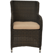 Outdoor Wicker Round Back Armchair