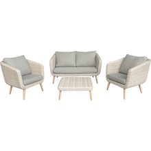 PRE-ORDER VERMONT - Outdoor Timber/Wicker  Double Seaters Sofa - Furniture Star Direct