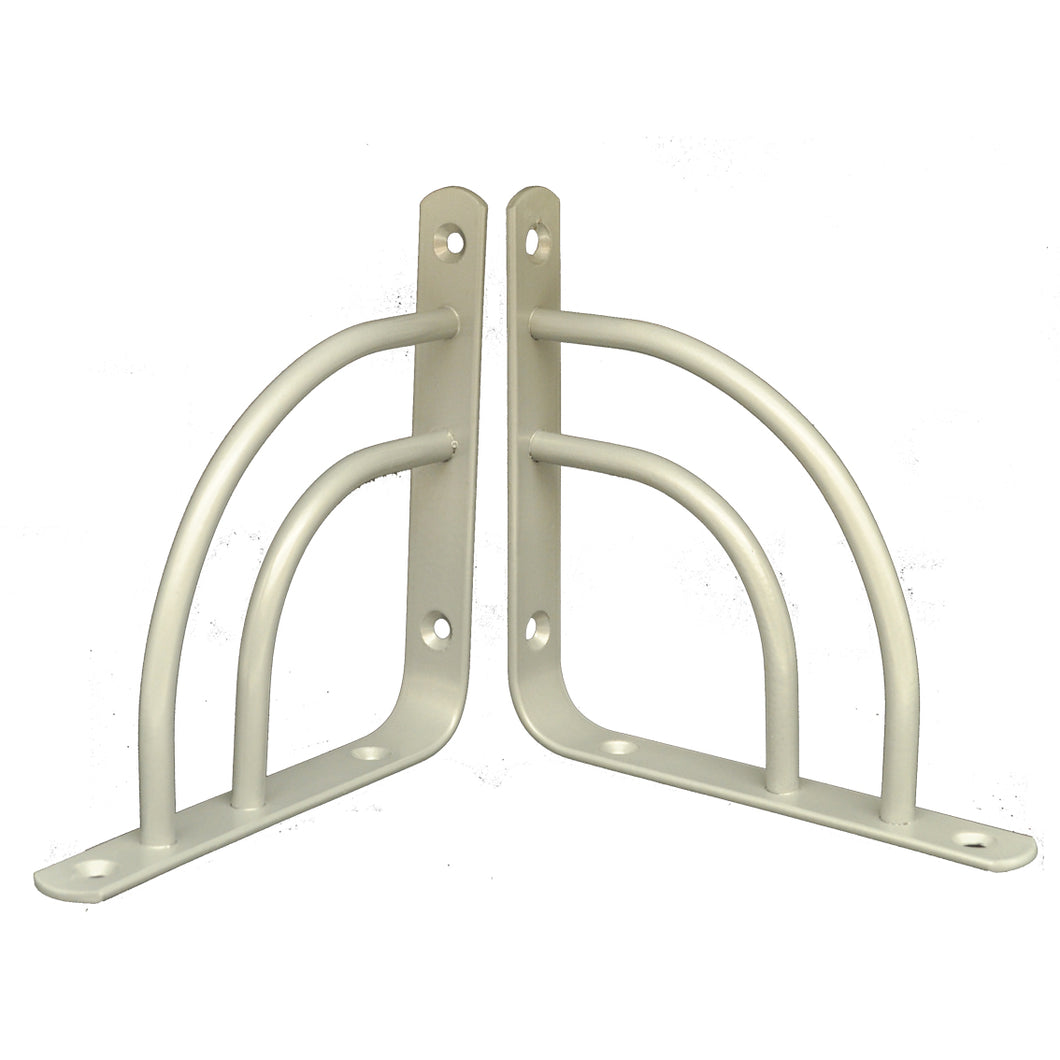 2x MINI DOUBLE-SWING 145 - Shelf Wall Mounted Brackets with hardware