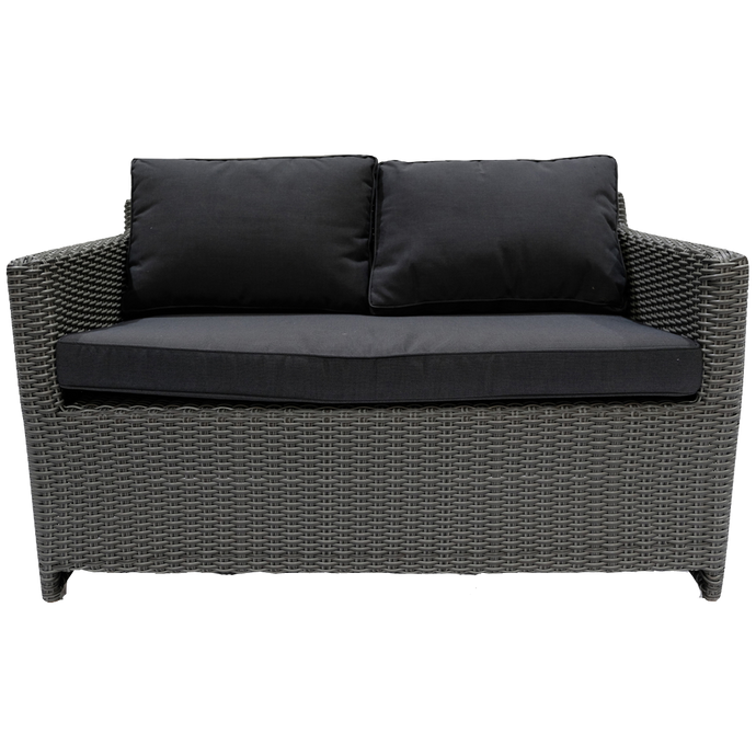 ELWOOD - Outdoor Wicker 2 Seater Sofa - Furniture Star Direct