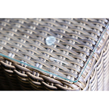 Kew Outdoor Wicker Square Table Close Up