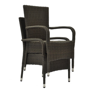Niddrie Outdoor Wicker Stacking Armchairs