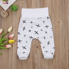Cute white 3D Fox print harem pants
