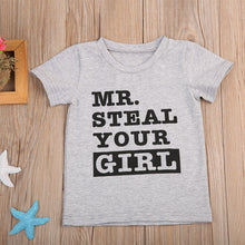 Cute, 'Mr Steal Steal Your Girl' t-shirt.