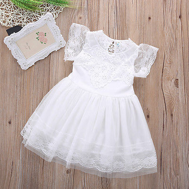 White stunning lace party dress