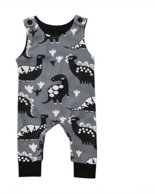 Sleeveless Dinosaur print jumpsuit