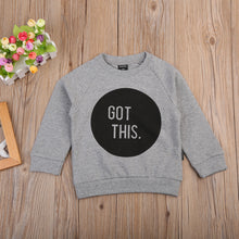 """Got This"" printed grey sweatshirt."