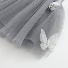 Grey adorable kitty printed top with butterfly tutu skirt.