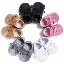 White Baby Glitter Shoes