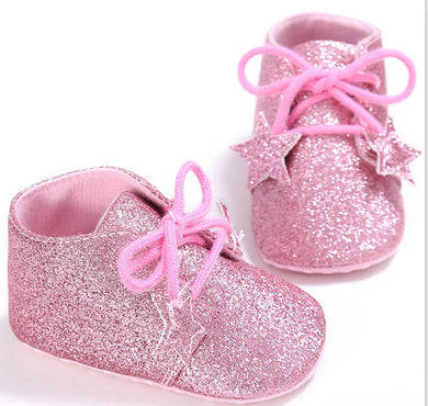 Pink Baby Glitter Shoes
