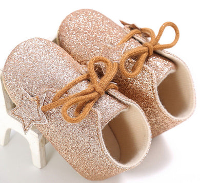 Gold Baby Glitter Shoes