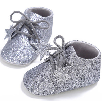 Silver Baby Glitter Shoes