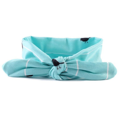 Blue Cute girls bowknot headband.