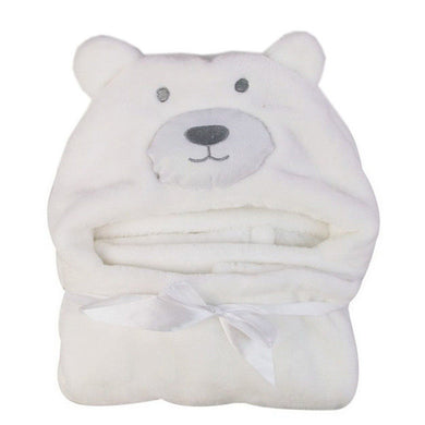 Gorgeous and snug bear character hooded bath towel.