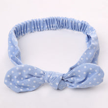 spotted blue Girls Bowknot Hair Accessory