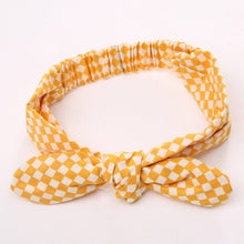tartan yellow Girls Bowknot Hair Accessory