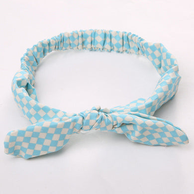 Tartan blue Girls Bowknot Hair Accessory