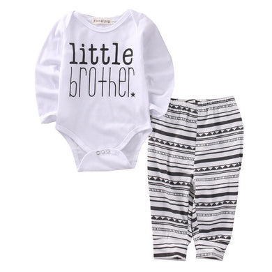 Fun boy's long sleeve romper and pant set
