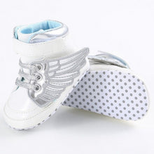 white Super trendy patent leather bling hightop shoes.