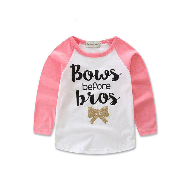 Pink Bows Before Bros T-Shirt