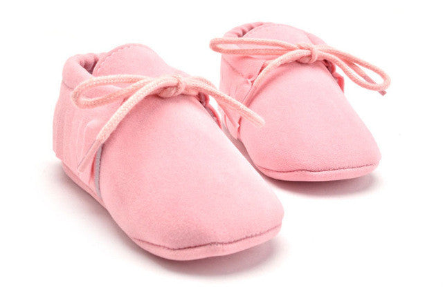 pink Stylish moccasin soft sole boots