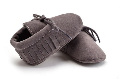 grey Stylish moccasin soft sole boots