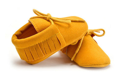 yellow Stylish moccasin soft sole boots
